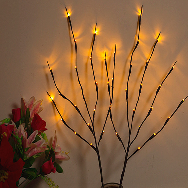 Đèn trang trì Led Lantern Chi nhánh Chuỗi ánh sáng Mô phỏng Chi nhánh Đèn trong nhà văn phòng cảnh q
