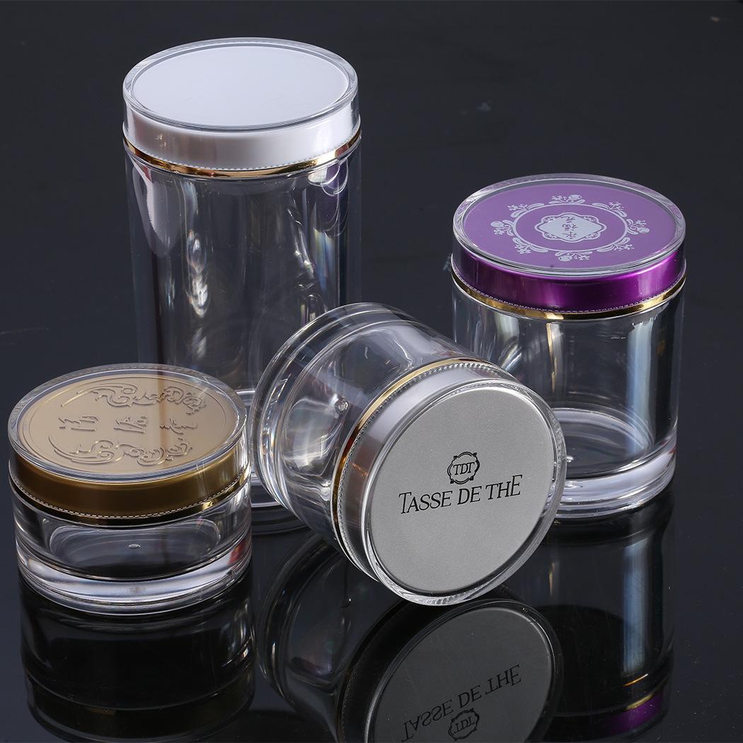 WEIYANG Hũ nhựa Acrylic cao cấp sản phẩm chăm sóc sức khỏe chai Dendrobium đen bao bì men chai trong