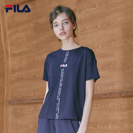 Áo thun FILA Áo thun ngắn tay của phụ nữ Fila Fila chính thức 2019 Mùa hè Mới Áo dệt kim ngắn tay ng
