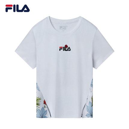Áo thun FILA Áo thun ngắn tay của phụ nữ Fila Fila chính thức 2019 Thu mới Chủ đề thể thao và giải t