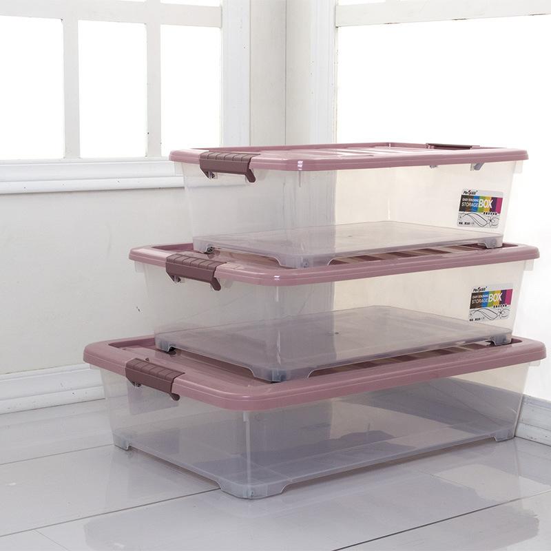 XIANTING Thùng nhựa Nhà máy bán buôn hộp đáy giường Lưu trữ trong nhà Hộp lưu trữ trong suốt Hộp nhự