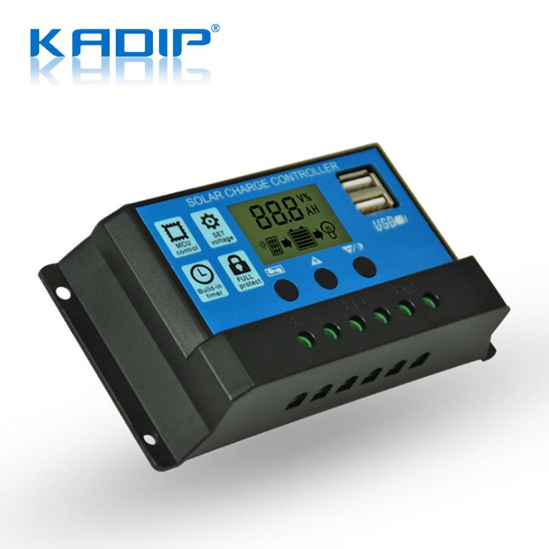 KADIP Mạch bo Bộ điều khiển năng lượng mặt trời Kadip 30a Bộ điều khiển sạc thông minh 12V / 24V led