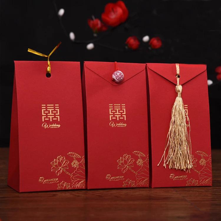 LIANGHAO hộp quà tiệc cưới Hộp kẹo cưới phong cách Trung Quốc quà tặng hộp quà cưới hộp kẹo túi sáng