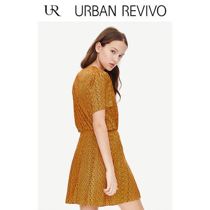 Đầm UR2019 hè trẻ trung phong cách nữ màu sắc kết hợp đầm cổ chữ V YV16R7EN2000