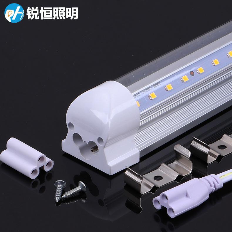 RUIHENG Ống đèn LED T8 tích hợp ống huỳnh quang T8led ống 1,2 m tiết kiệm năng lượng loại V làm nổi