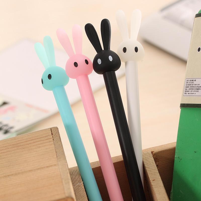 ZHISHUN Bút nước Phim hoạt hình Hàn Quốc văn phòng phẩm dễ thương dễ thương thỏ thạch gel bút sinh v