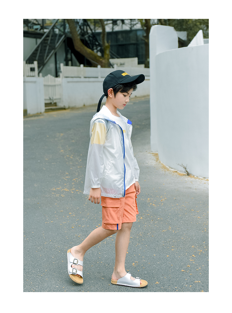 Áo khoác trẻ em Quần áo hè đẹp trai ở trang phục đẹp phần thưởng Một phiên bản Hàn Quốc cho trẻ em