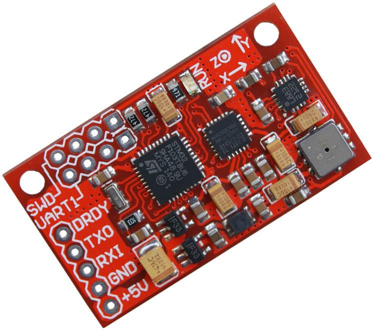 FENGTAI Cảm biến Mô-đun cảm biến IMU AHRS 10DOF MPU6050 HMC5883 BMP180 thái độ với mã nguồn