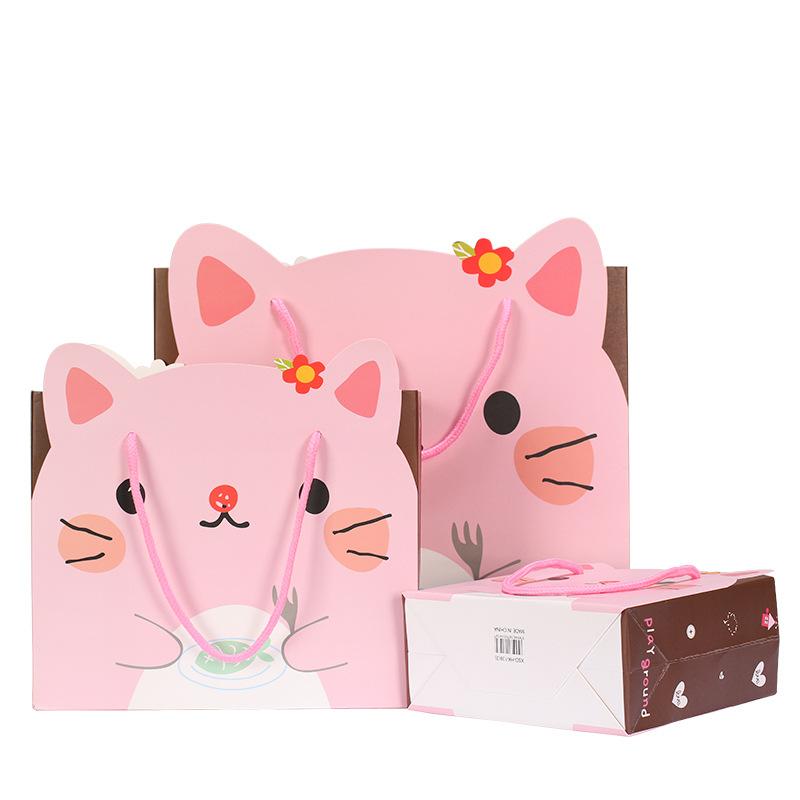 LIANGDIAN Túi giấy đựng quà Dễ thương mô hình động vật quà tặng trẻ em tote túi giấy túi quà tặng tú