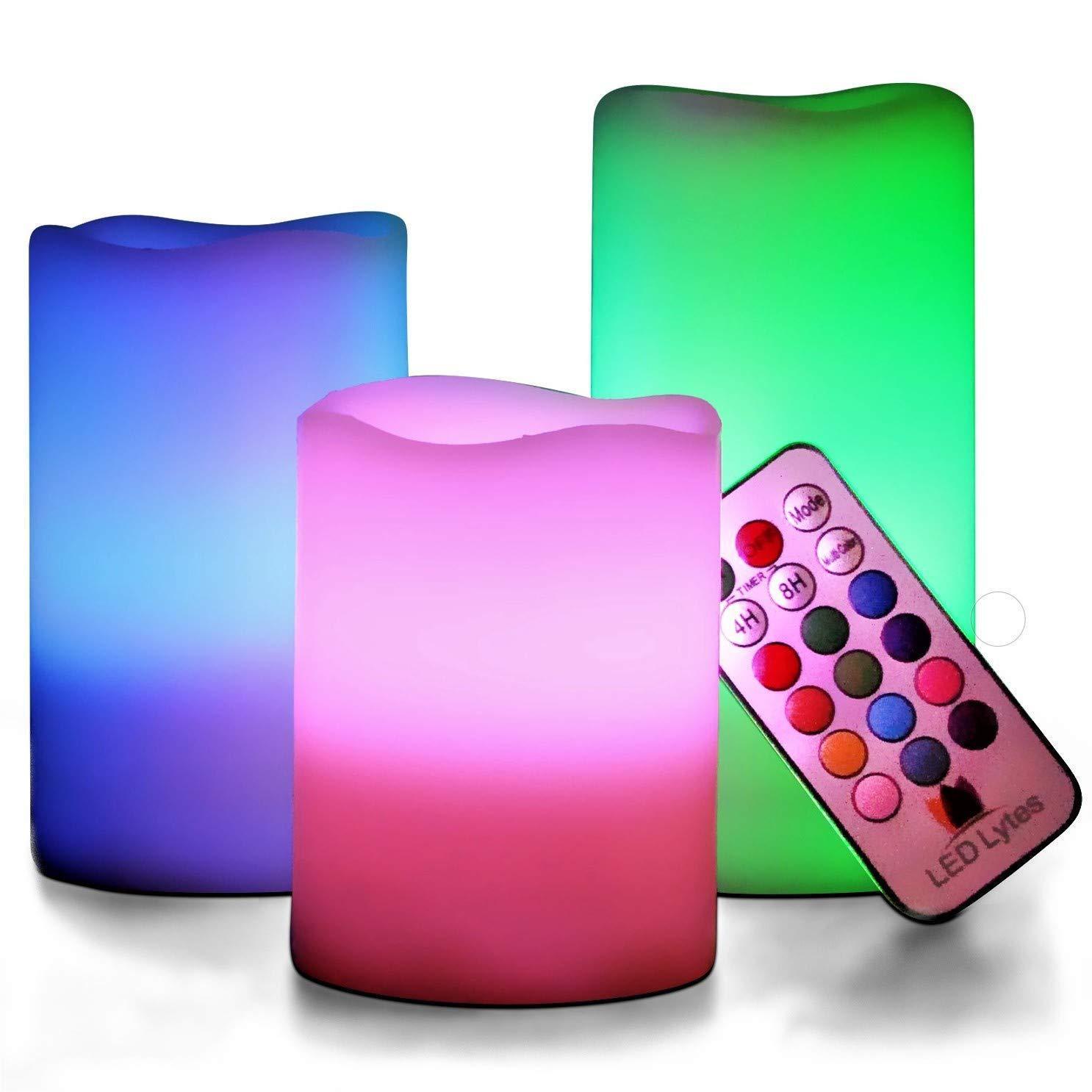 HENGZHAN Bóng đèn nến 18 phím điện tử đầy màu sắc điều khiển từ xa đèn led led điện tử ngọn lửa khôn