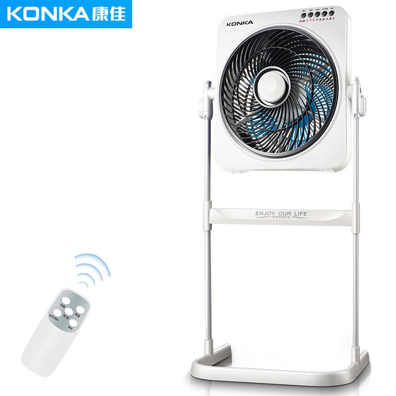 KONKA Quạt máy Quạt điện Konka quạt sàn nhà điều khiển từ xa nâng quạt máy tính để bàn bass may mắn