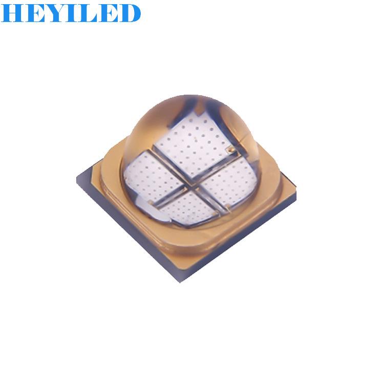 HEYI Bóng đèn bi 395/385 / 365nm UVUVLED6565 đèn hạt 60 độ ống kính thạch anh chữa thiết bị nguồn sá