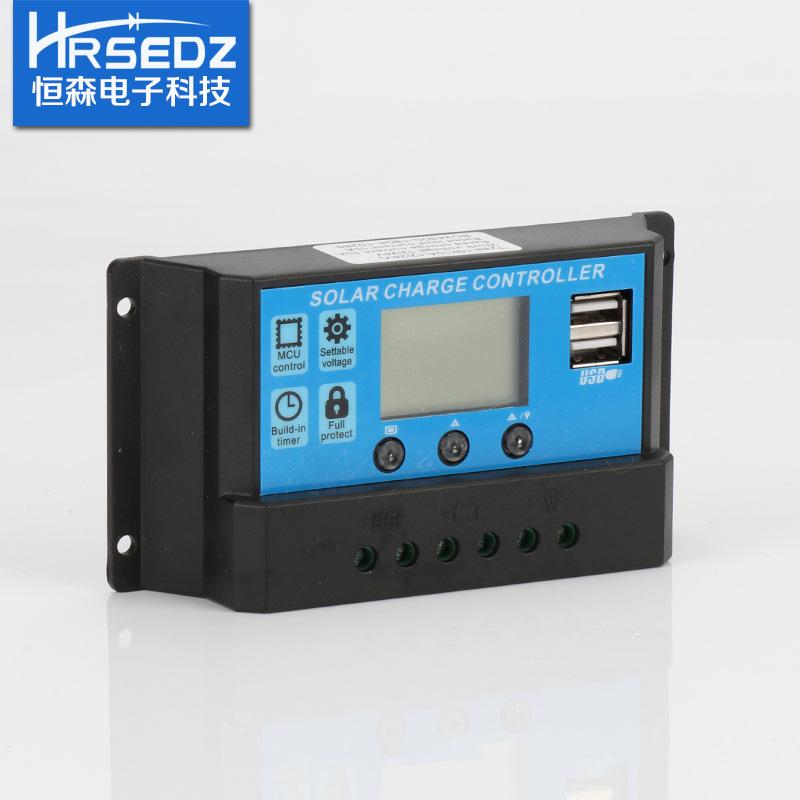 HENGSEN Mạch bo Bộ điều khiển năng lượng mặt trời SC2430C-30A Bộ điều khiển quang điện 12 V Thích ứn