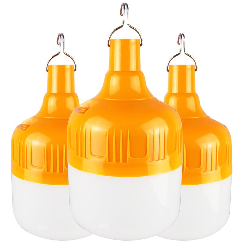 LIHEN Bóng đèn LED Không thể sạc lại bóng đèn đêm thị trường đèn gian hàng đèn khẩn cấp DC ngoài trờ