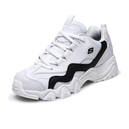 Giày nữ trào lưu Hot  Skechers Giày đế bệt Skechers Giày mới đôi giày đế bệt D'lites giày đế dày đế