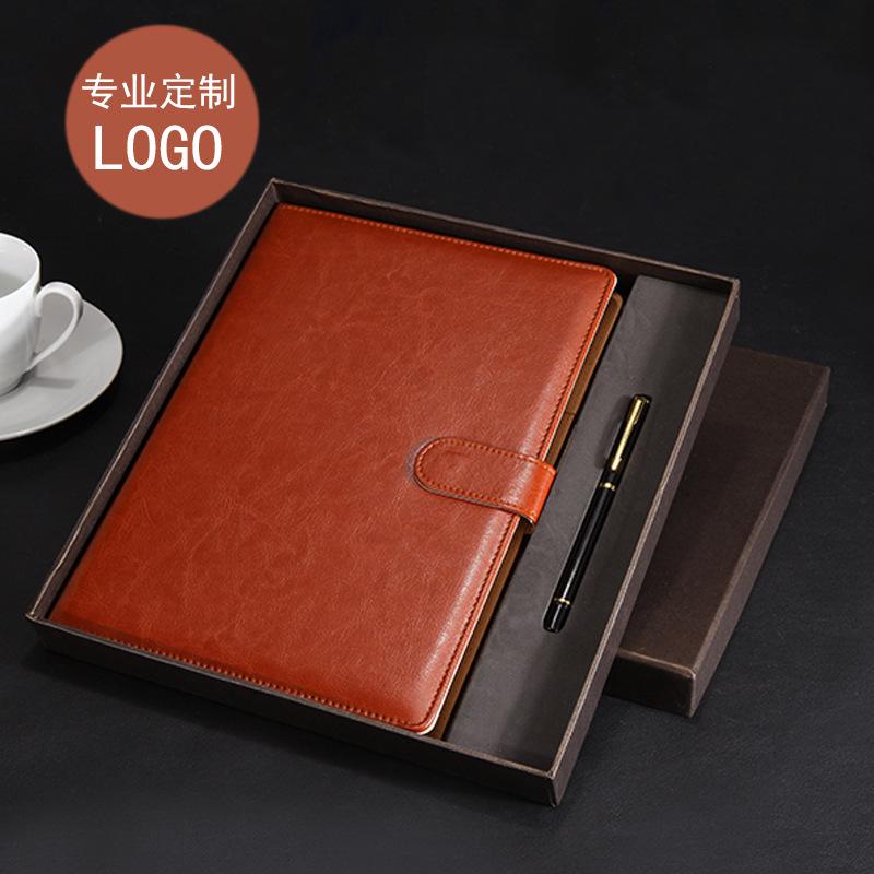 TENGXIONG Sổ tay Bộ kinh doanh máy tính xách tay đặt văn phòng B5 notepad hộp quà tặng khóa a5 máy t