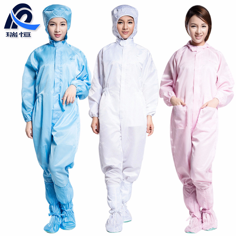 RUIHENG Trang phục bảo hộ Đông Quan nhà máy bán buôn quần áo chống bụi chống tĩnh điện quần yếm trùm