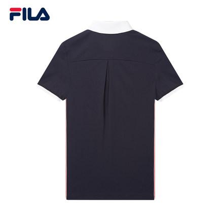 Áo thun FILA Fila Official Áo sơ mi nữ tay ngắn 2019 Mùa hè mới Áo thể thao giản dị ve áo ngắn tay