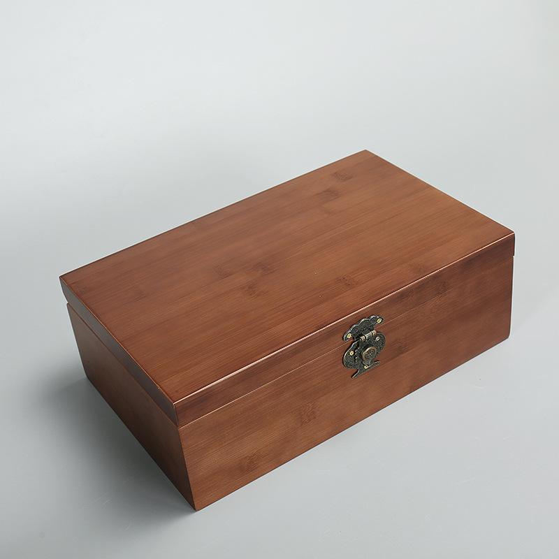 Hộp gỗ Nhà máy trực tiếp gỗ rắn cổ carbonized hộp gỗ Đóng gói quà tặng hộp gỗ tùy chỉnh bán buôn hộp