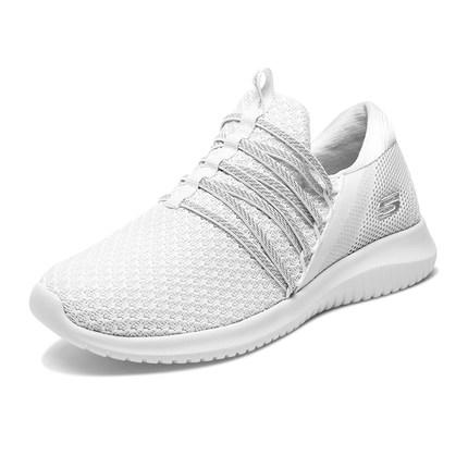 Giày nữ trào lưu Hot  Skechers Giày Skechers một bộ giày lười thường giày lưới thoáng khí Giày trắng