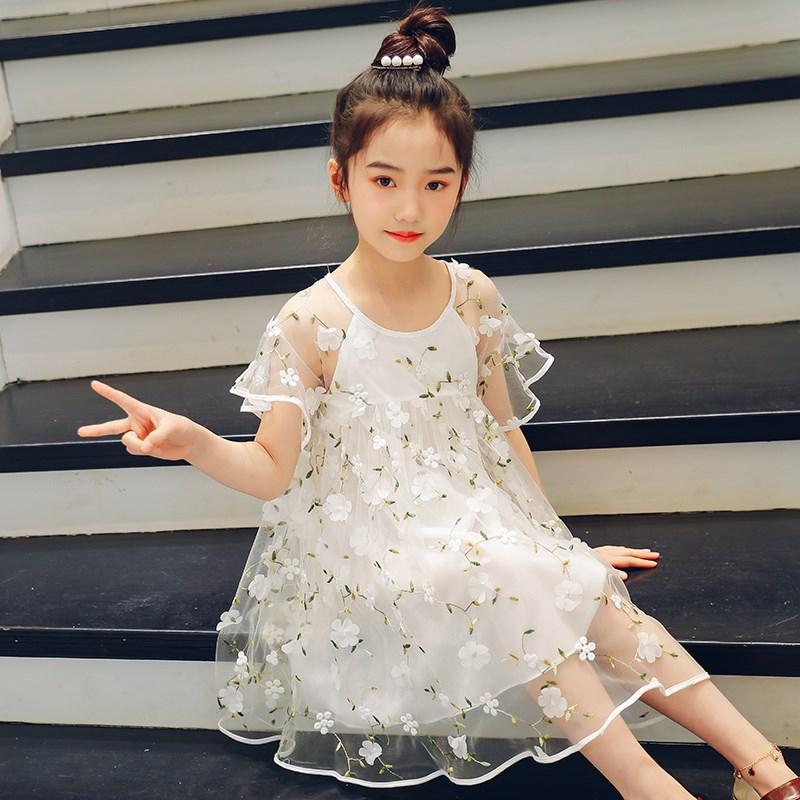 Đầm váy trẻ em Quần áo cho mùa hạ và mặc áop