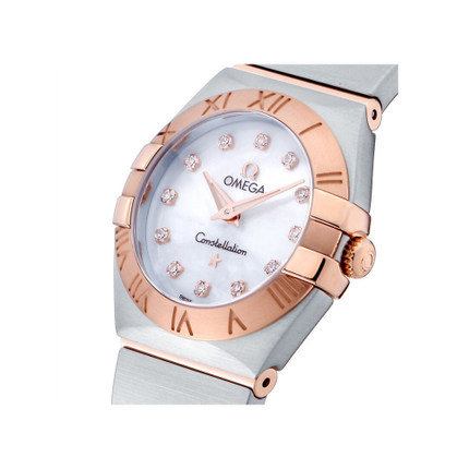 Đồng hồ thông minh  OMEGA [Direct] Đồng hồ thạch anh nhập khẩu Omega chòm sao nữ 123.20.24.60.55.001