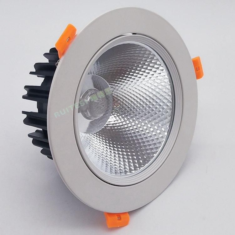 RUITESI Đèn âm trần bộ LED Die Cast COB trần đèn vỏ Kit LED trần Spotlight chống chói Downlight 20-2