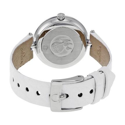 Đồng hồ thông minh  OMEGA Đồng hồ Thụy Sĩ Omega đĩa bay loạt kim cương dây đeo đồng hồ thạch anh nữ