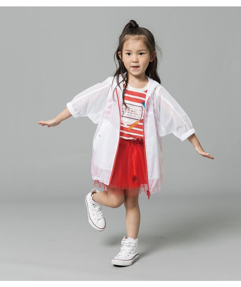 Áo khoác trẻ em Diễn viên quần áo trẻ em mặc áo ngắn