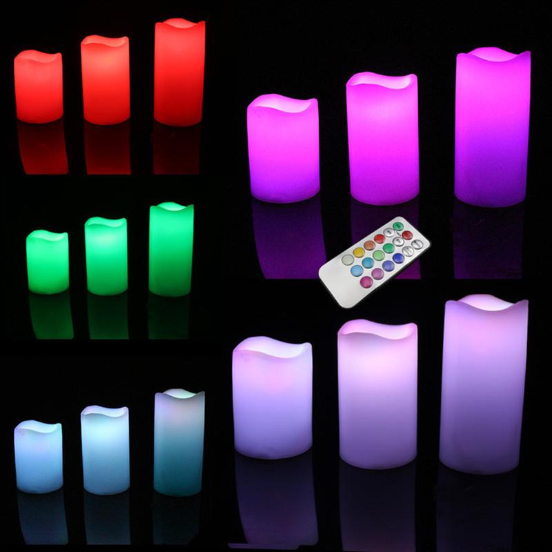 SHUJIE Bóng đèn nến Nhà máy trực tiếp sóng miệng 18 chìa khóa thời gian điều khiển từ xa 12 màu led