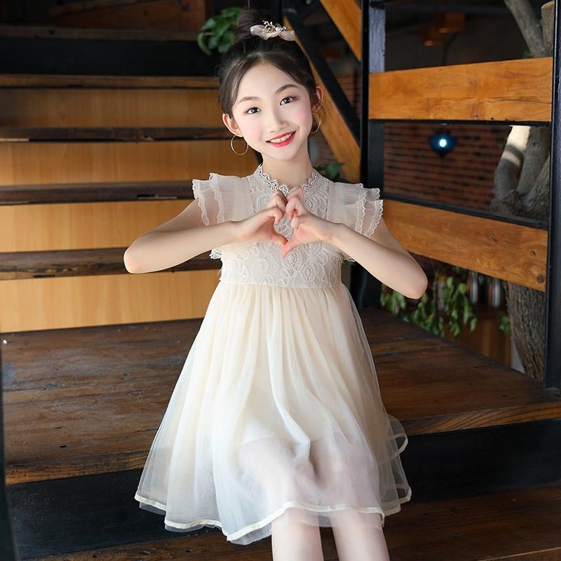Đầm váy trẻ em Quần áo Mùa hè nữ sinh 2009 Quần áo thời trang New Lotus Leaf Edge Công chúa Skirt