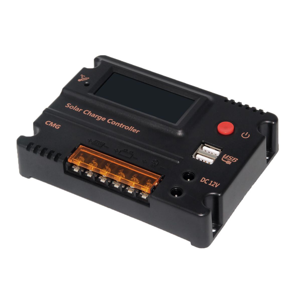 Bộ điều khiển năng lượng mặt trời thông minh CMG12V24V10A LCD hiển thị Bộ điều khiển ánh sáng mặt tr