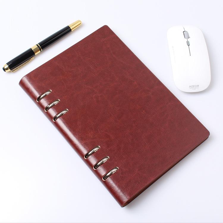 Chengchuang Sổ tay kinh doanh đơn giản máy tính xách tay đai bìa mềm khóa a5 máy tính xách tay b5PU