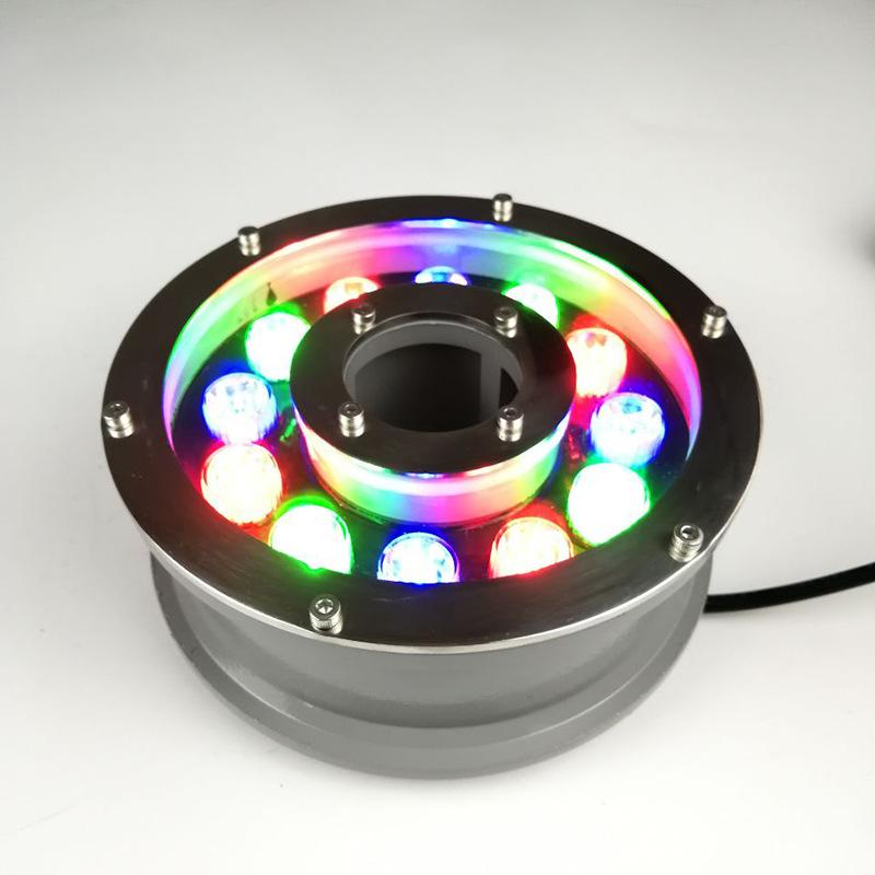 YOUDIANYA Đèn LED âm nước Đèn đài phun nước Led 9w đèn dưới nước 12V bể bơi ngoài trời hình vuông 12