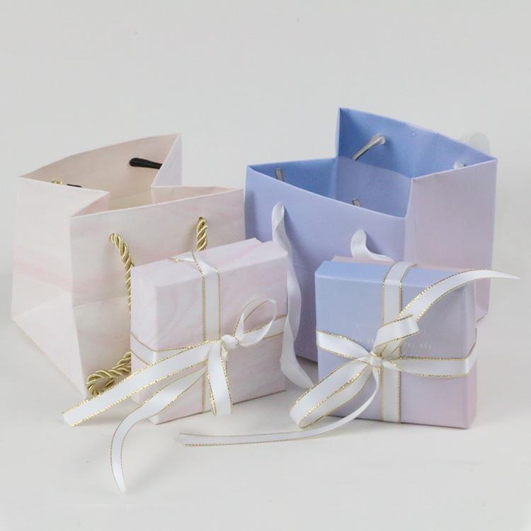 Túi đựng trang sức Hộp trang sức hai mảnh ruy băng vòng đeo tay vòng tay hộp trang sức túi xách hộp