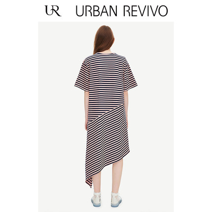 Đầm UR Áo thun nữ mùa hè mới của UR2019 đơn giản, áo thun cổ tròn màu đơn giản YV18S7BS2000