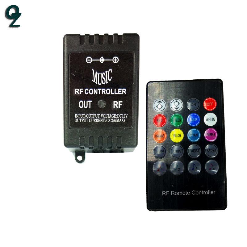 QZ Công tắc điều chỉnh độ sáng Bộ điều khiển RF không dây đầy màu sắc không khí điều khiển ánh sáng