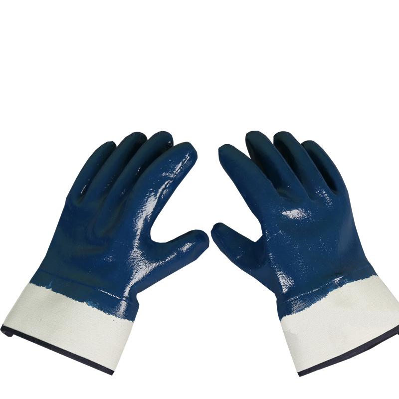 YANGZHIXING Găng tay bảo hộ Fluffy nitrile chống dầu bảo vệ găng tay chống nước xây dựng hóa chất gă