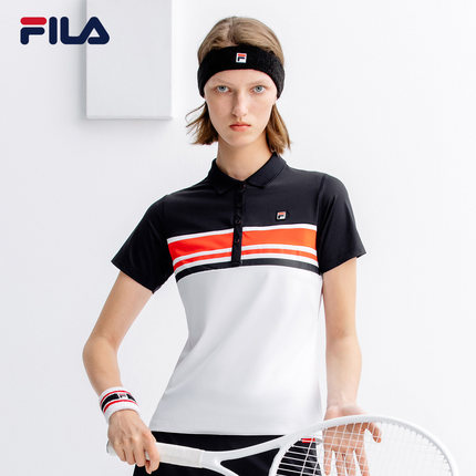 Áo thun FILA Fila Official Women Áo ngắn tay POLO 2019 Mùa hè Mới Áo thể thao thun ngắn tay