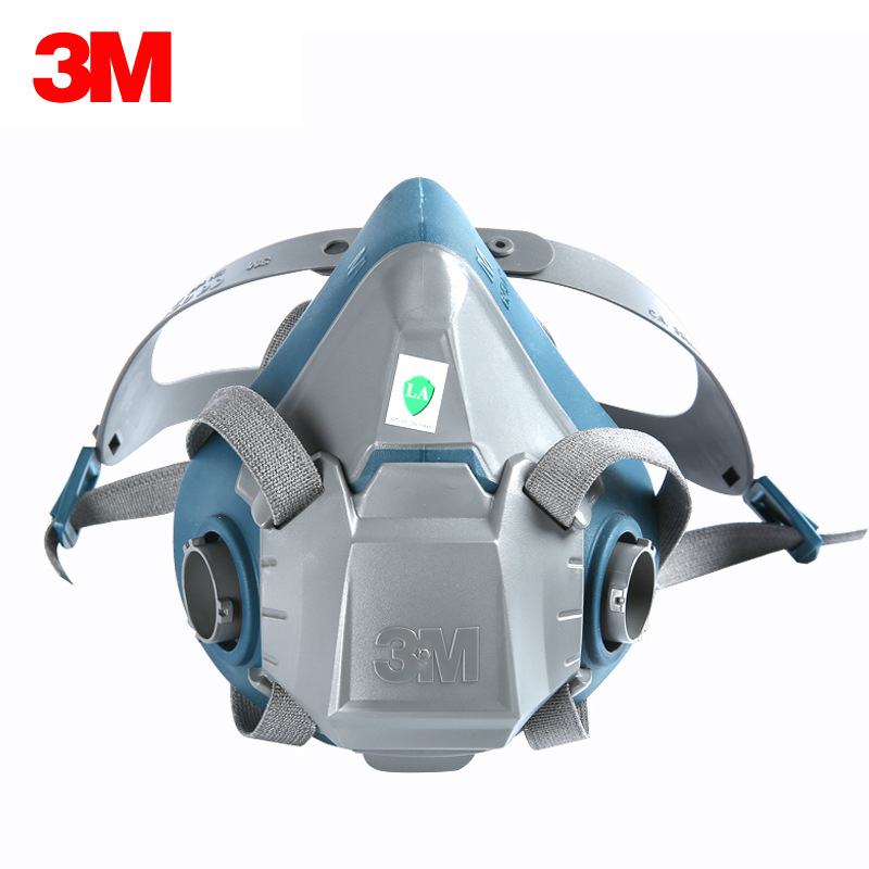 3M Mặt nạ phòng chống khí độc Mặt nạ phòng độc silicon 3M6502 mặt nạ chống bụi phun sơn mặt nạ bảo v