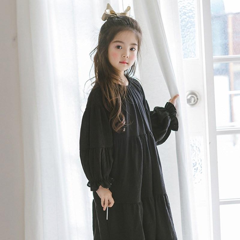 Đầm váy trẻ em New Kids'Skirt in Autumn Thậm chí là phần Văn học Hàn Quốc và nghệ thuật Model Princ