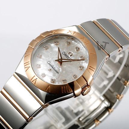 Đồng hồ thông minh  OMEGA [mua theo lịch trình] Đồng hồ Omega Omega nữ chòm sao thạch anh nữ 123.20.