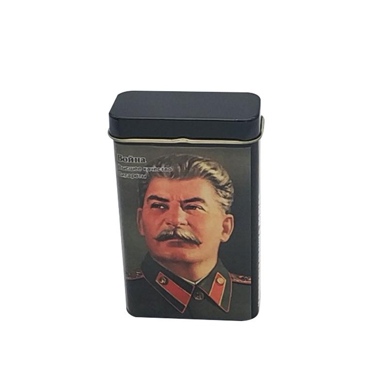 WEIMEIJIA Hũ kim loại Hộp thuốc lá tùy chỉnh 56 * 25 * 94mm Vỏ thuốc lá kim loại có thể lưu trữ hộp