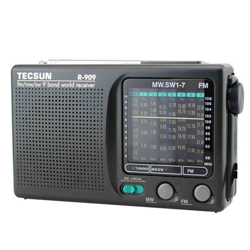 Tecsun Máy Radio R-909 fm đài phát thanh FM di động dành cho người già