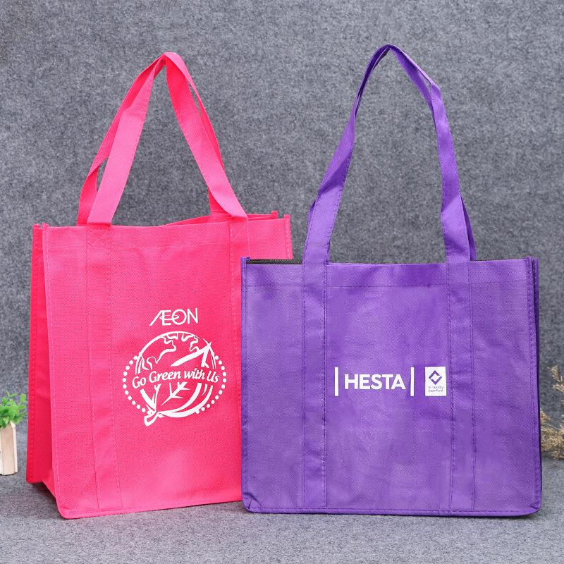 Túi vải không dệt Cung cấp bán hàng trực tiếp pp vải không dệt túi xách in màu trung tâm quảng cáo m