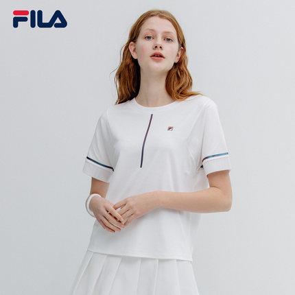 Áo thun FILA FILA Fila Áo thun ngắn tay nữ tròn cao cấp 2019 Mùa hè mới Áo sơ mi ngắn tay ngắn