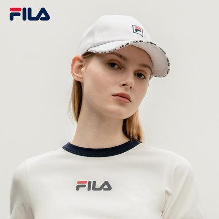 thị trường túi - Vali  FILA FILA Fila Mũ lưỡi trai nam và nữ chính thức 2019 Mùa thu Logo mới đầy mà