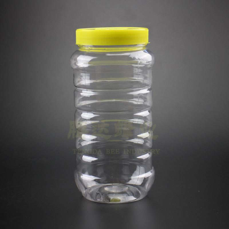 TENGDA Hũ nhựa PET chai nhựa đóng gói chai 1000ml trong suốt mật ong jar hoa trà snack lon nhựa bán