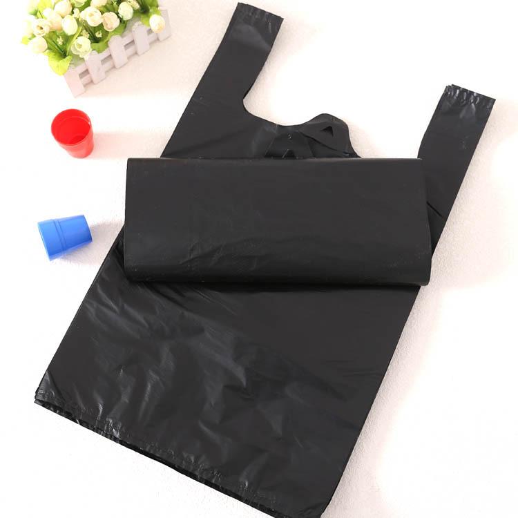 Túi xốp 2 quai Đen rác vest túi nhựa nhà máy bán buôn Khách sạn rác có thể phổ biến túi rác xách tay