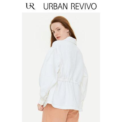 Áo khoác lửng UR2019 mùa thu mới cho giới trẻ đơn giản nút màu đơn giản ve áo dài YU31S1LS2000